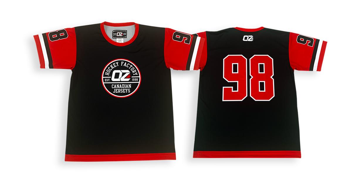 sublimated dek hockey t-shirts